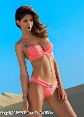 Stilren push-up-bikini med ringdetaljer